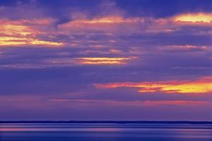Canada, Manitoba. Stormy sky on Lake Winnipeg at dawn. by Jaynes Gallery