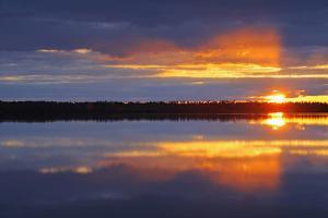 Canada, Manitoba, Whiteshell Provincial Park. Sunrise on White Lake. by Jaynes Gallery