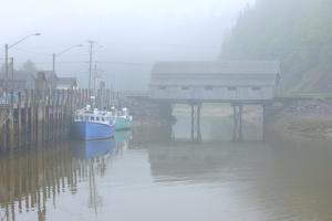 Canada, New Brunswick, Saint Martins. Vaughn Creek No. 1 Irish River Covered Bridge. by Jaynes Gallery