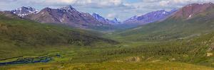Canada, Yukon. Panorama of Tombstone Range and North Klondike River. by Jaynes Gallery