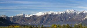 Canada, Yukon, Panoramic of St. Elias Range and Kluane Lake. by Jaynes Gallery
