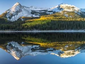 Colorado, East Beckwith Mountain. Reflection in Lost Lake Slough by Jaynes Gallery