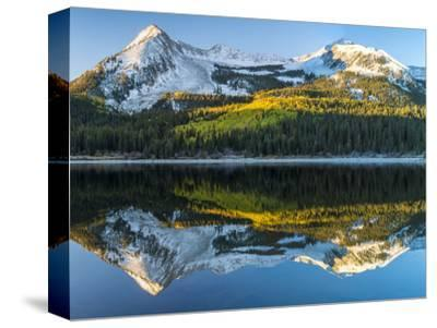 Colorado, East Beckwith Mountain. Reflection in Lost Lake Slough