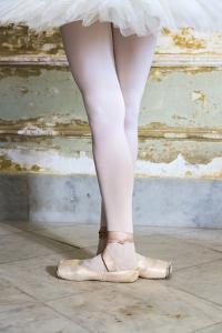 Cuba, Havana. Ballet position of ballerina's legs and feet. by Jaynes Gallery