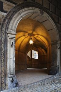 Czech Republic, Cesky Krumlov. Castle archway and tunnel. by Jaynes Gallery