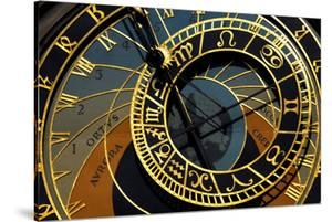 Czech Republic, Prague. Close-up of astronomical clock in Old Town Square. by Jaynes Gallery