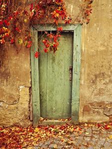 Czech Republic, Prague. Weathered door. by Jaynes Gallery