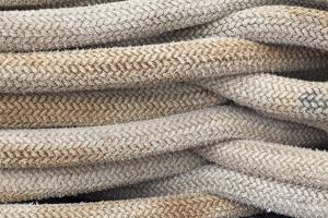 Detail of Stacked Boat Mooring Lines, Bremerton, Washington, USA by Jaynes Gallery