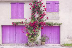 France, Provence. Colorful house facade. by Jaynes Gallery