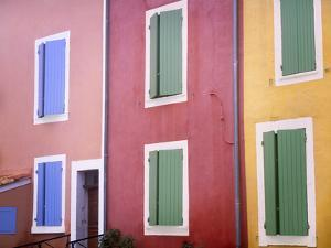 France, Provence, Roussillon. Colorful building exteriors. by Jaynes Gallery