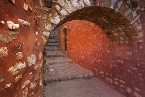 France, Provence, Roussillon. Stone arch and passageway. by Jaynes Gallery