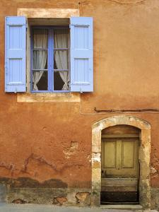 France, Provence, Roussillon. Weathered window and door of house. by Jaynes Gallery