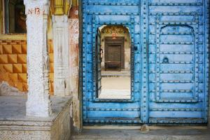 India, Rajasthan. colorful house. by Jaynes Gallery