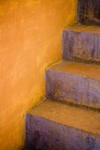 India, Rajasthan. Colorful stairway close-up. by Jaynes Gallery