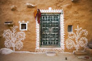 India, Rajasthan. Traditional desert house exterior. by Jaynes Gallery