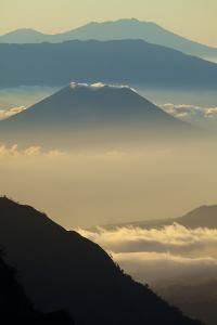 Indonesia, East Java. Mount Bromo volcano overview at sunrise. by Jaynes Gallery