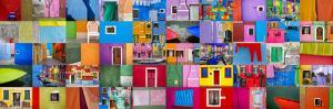 Italy, Burano. Collage of colorful Burano images. by Jaynes Gallery