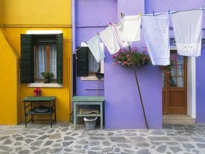 Italy, Burano. Colorful house exterior. by Jaynes Gallery