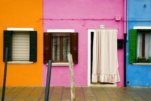 Italy, Burano. Colorful house windows and walls. by Jaynes Gallery