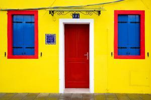 Italy, Burano. Colorful house. by Jaynes Gallery