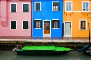 Italy, Burano. Colorful windows and walls. by Jaynes Gallery