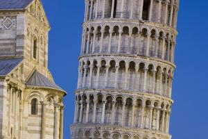 Italy, Pisa. Close-up of Leaning Tower and Pisa Cathedral by Jaynes Gallery