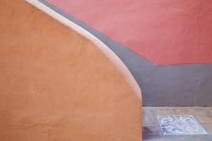 Italy, Procida. Stairwell and wall. by Jaynes Gallery