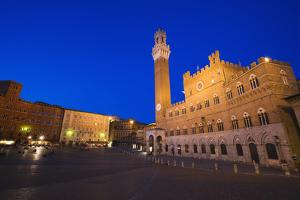 Italy, Siena. Medieval Piazza del Campo square by Jaynes Gallery