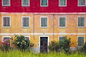 Italy, Veneto. Colorful farmhouse exterior. by Jaynes Gallery