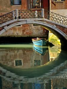 Italy, Venice. Canal bridge and building. by Jaynes Gallery