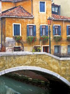 Italy, Venice. Canal bridge and buildings. by Jaynes Gallery
