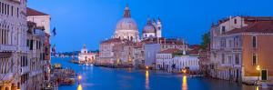 Italy, Venice. Church of Santa Maria della Salute at sunset. by Jaynes Gallery