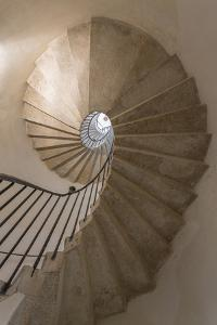 Italy, Venice. Spiral stairwell. by Jaynes Gallery