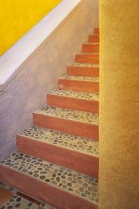 Mexico, Costalegre. Colorful stone stairs. by Jaynes Gallery