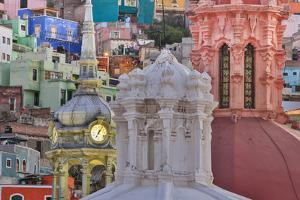 Mexico, Guanajuato. Colorful Houses and Church Domes by Jaynes Gallery