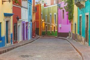 Mexico, Guanajuato. Colorful Street Scene by Jaynes Gallery
