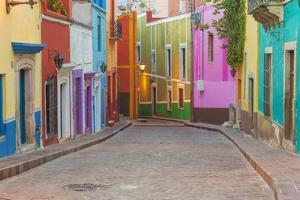 Mexico, Guanajuato. Colorful Street Scene by Jaynes Gallery