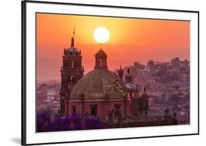 Mexico, San Miguel De Allende. City Overview at Sunset by Jaynes Gallery