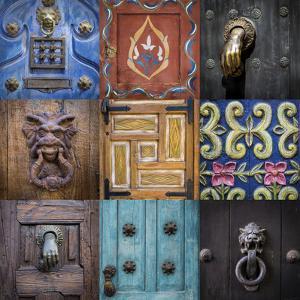 Mexico, San Miguel De Allende. Collage of Door Details in City by Jaynes Gallery