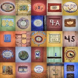 Mexico, San Miguel De Allende. Collage of House Numbers from City by Jaynes Gallery