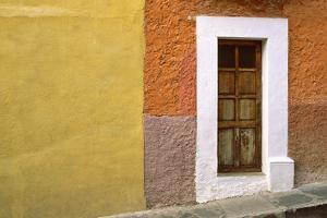 Mexico, San Miguel de Allende. Door and house exterior. by Jaynes Gallery