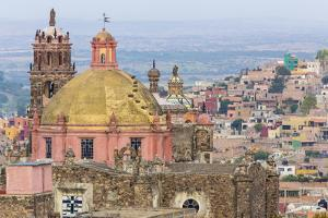 Mexico, San Miguel De Allende. Overview of Church Dome and City by Jaynes Gallery