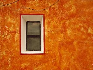 Mexico, San Miguel de Allende. Window in exterior house wall. by Jaynes Gallery