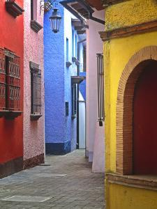 Mexico, Veracruz State. Colorful colonial architecture. by Jaynes Gallery