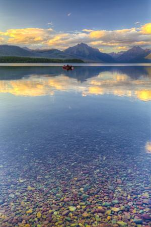 Montana, Glacier National Park. Lake Macdonald Landscape