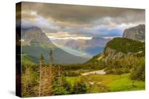 Montana, Glacier National Park, Logan Pass. Sunrise on Mountain Landscape by Jaynes Gallery