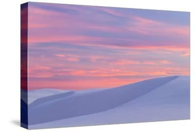 New Mexico, White Sands National Monument. Sunset on Desert Sand