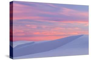 New Mexico, White Sands National Monument. Sunset on Desert Sand by Jaynes Gallery