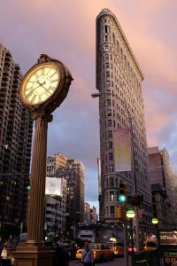 New York, New York City. Fifth Avenue and Flatiron Building at Sunset by Jaynes Gallery