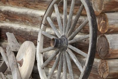 Old Wagon Wheel, Fort Steele, British Columbia, Canada by Jaynes Gallery